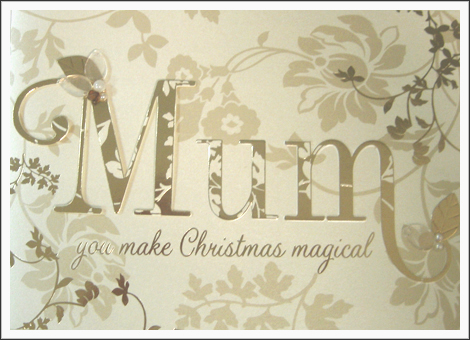 Competition Christmas Mum Card
