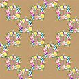 Floral wreath brown paper