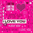 I love u tipography