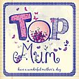 Top Mum Mother's Day Card
