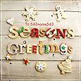 Seasons greetings biscuits