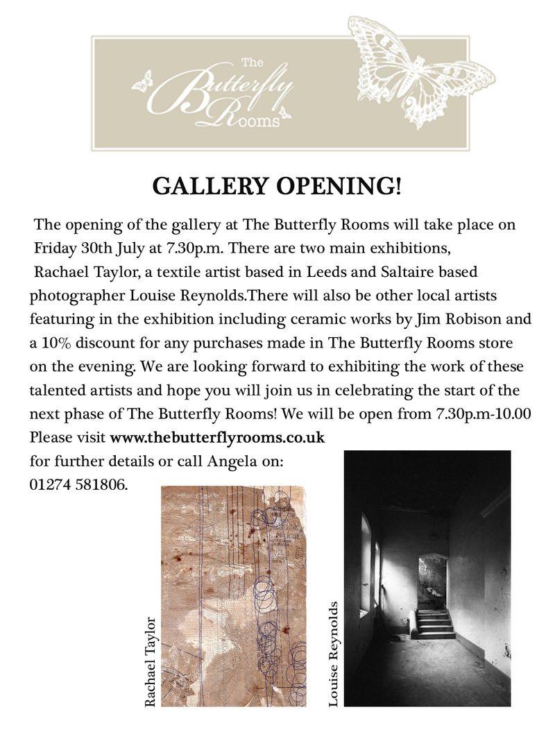 Publicity leaflet for exhibition