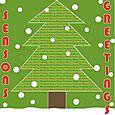 Seasons greetings tree