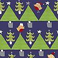 Christmas tree and robins