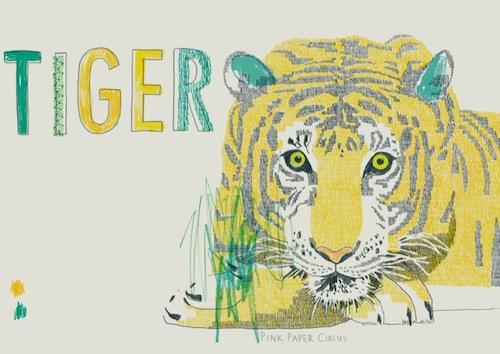 PinkPaperCircus.tiger