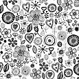 Cellular florals_balck and white