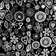Cellular florals_balck and white 2