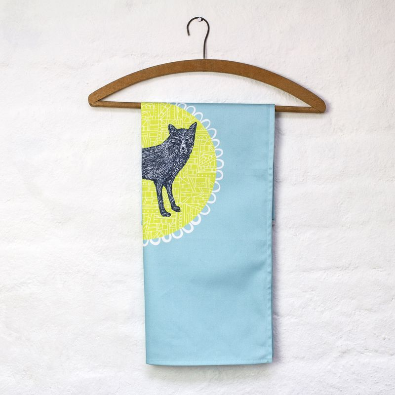 JessHogarth-Mr Fox tea towel on hanger