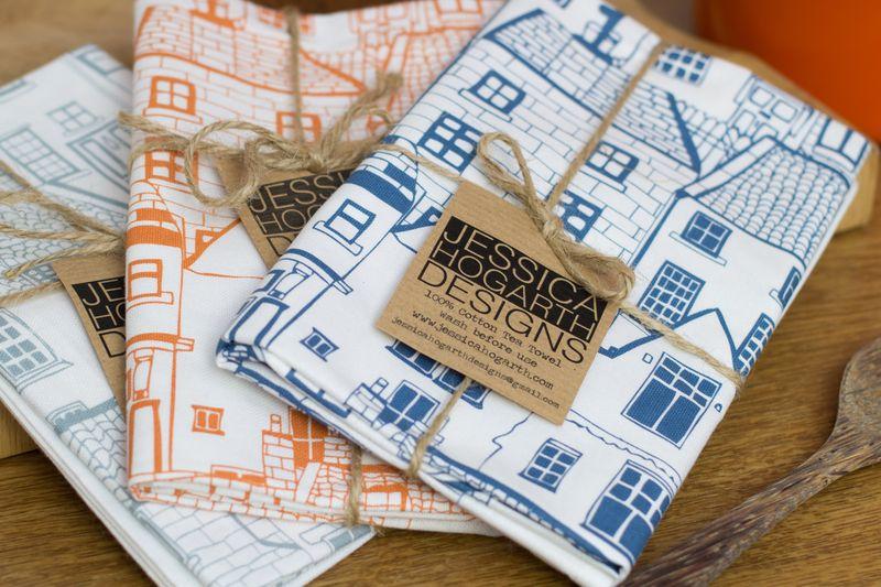 Jess Hogarth-Tea towels group lifestyle