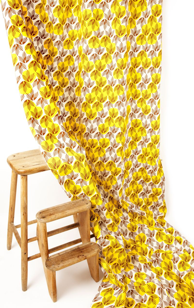 1 Frond fabric in Banana - credit In Two Dimensions
