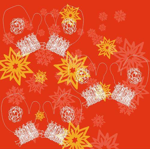 2012 Christmas Pattern: Mitten wrap