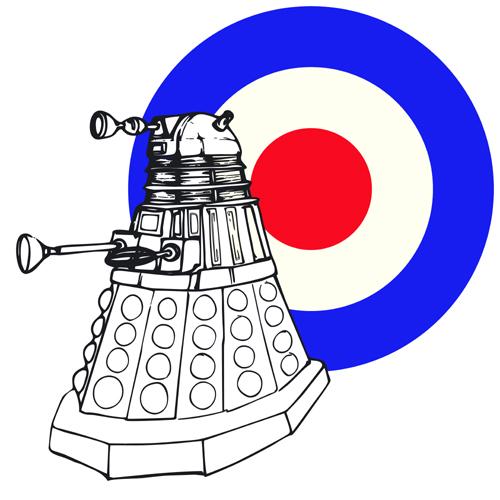 Dalek with RAF sign