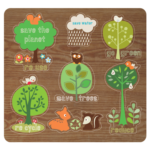 Childrens Puzzle Illustration Eco