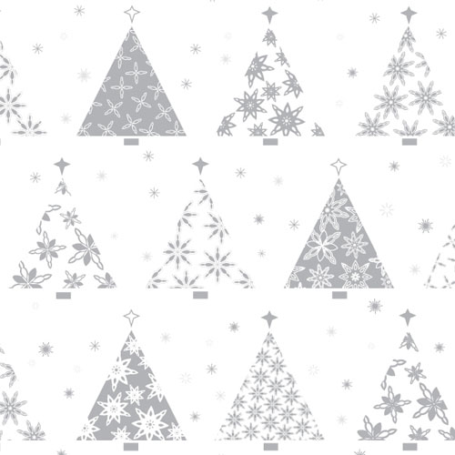 Christmas surface pattern & icons: Christmas tree design