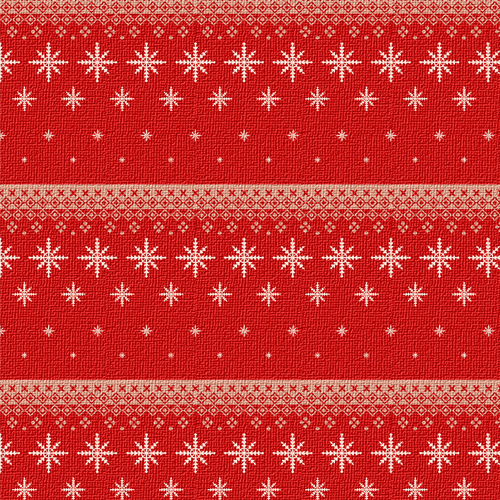 Christmas Surface Pattern Icons Knitted Snowflakes