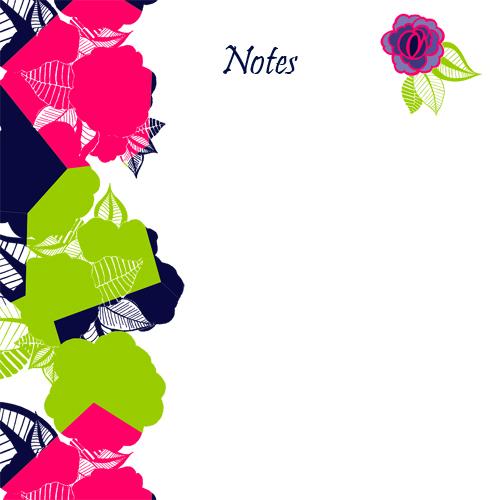 contemporary handbag notebook  inner page