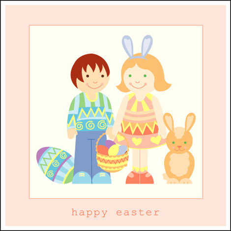 Easter_characters_bunny_and_eggs